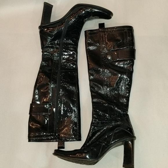 Materia Prima Shoes - Materia Prima Black Patent Leather Boots Size 6.5
